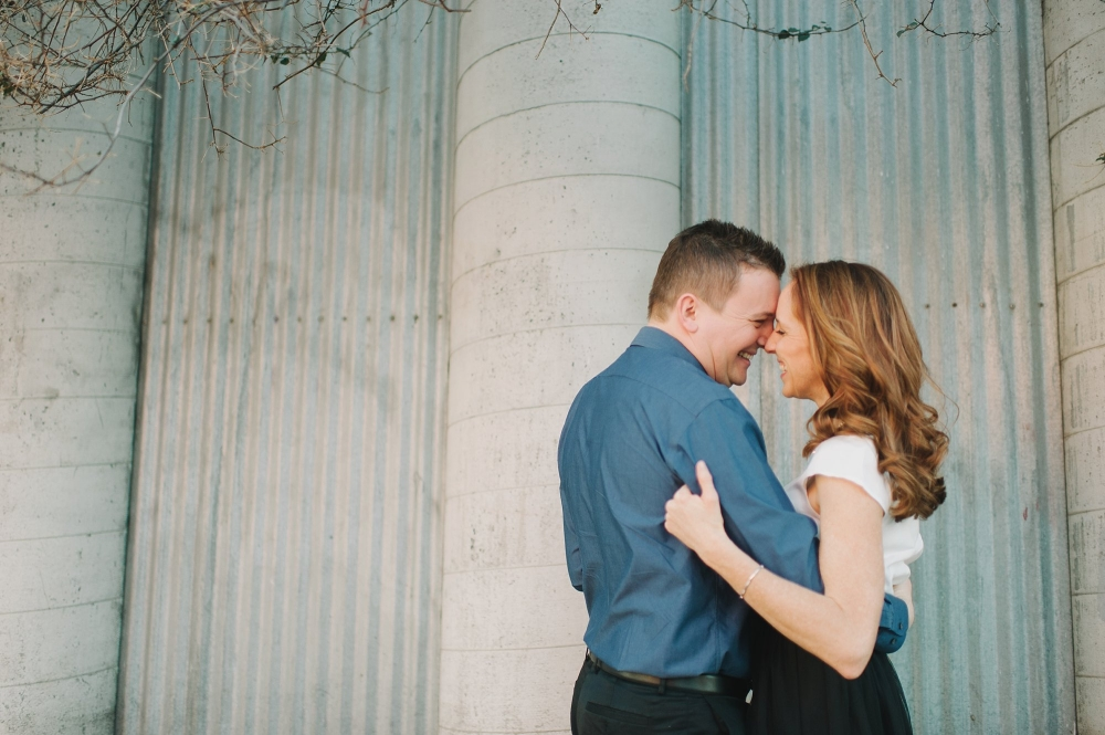 Los Angeles Arts district engagement photo