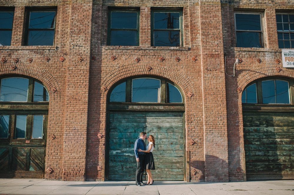 los angeles brick industrial building engagement