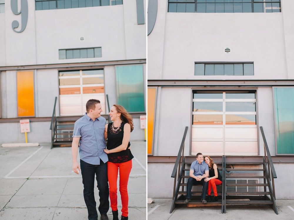 la arts district engagement photo