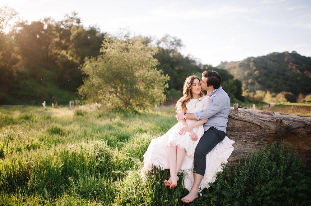 malibu creek engagement photos